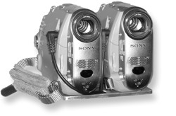 Stereoscopic video camera consisting of two Sony DCR-HC40