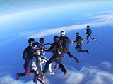 Stereoscopic Skydiving Footage